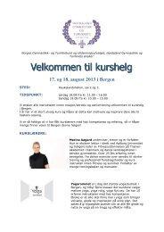 invitasjonen. - Norges gymnastikk og turnforbund