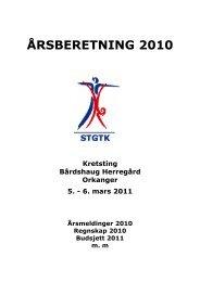 ÅRSBERETNING 2006 - Norges gymnastikk og turnforbund