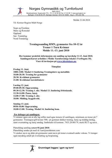 d52eec5e Praktisk informasjon - Norges gymnastikk og turnforbund