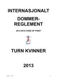 Artikkel 1 - Norges gymnastikk og turnforbund
