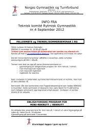 Infoskriv TKRG nr.4 2012 - Norges gymnastikk og turnforbund