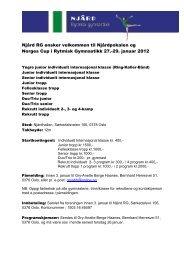 Njård Turnavdeling - Norges gymnastikk og turnforbund