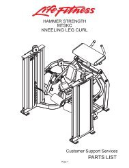 MTSKC Parts List
