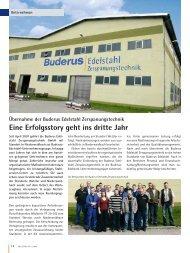 Eine Erfolgsstory geht ins dritte Jahr - Buderus Edelstahl Gmbh