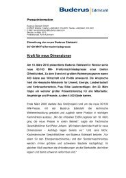 Kraft für neue Dimensionen - Buderus Edelstahl Gmbh