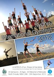 Click here for the event entry information - Gymnastics SA