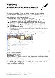 WebUntis elektronisches Klassenbuch - GYS