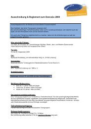 Ausschreibung & Reglement zum Dance2u 2009