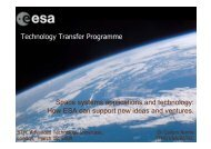 Technology Transfer Programme Space systems applications and ...