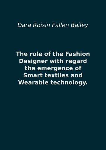 The role of the Fashion Designer with regard the emergence of ...