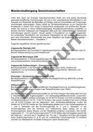 Mustermodulbeschreibung (konkret) - GeoZentrum Nordbayern