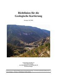 Richtlinien für die Geologische Kartierung - GeoZentrum Nordbayern