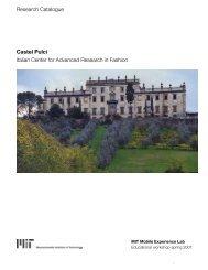 Castel Pulci Italian Center for Advanced Research in Fashion ...