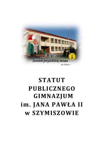 Statut i Wewnątrzszkolny System Oceniania (PDF, 995.3 KB) - GZOiW