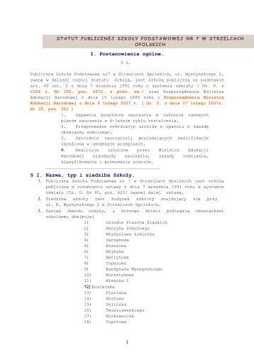 Statut szkoły (PDF, 242.99 KB) - GZOiW