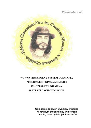 Wewnątrzszkolny System Oceniania (PDF, 213.52 KB) - GZOiW