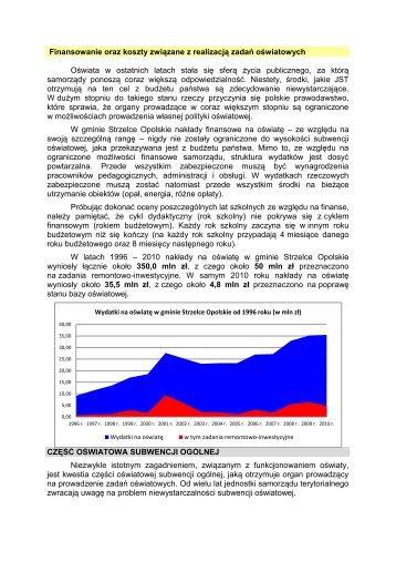 Finansowanie oraz koszty związane z realizacją zadań ... - GZOiW
