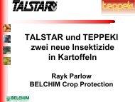 TALSTAR und TEPPEKI zwei neue Insektizide in Kartoffeln