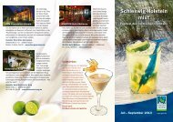 Cocktail-Flyer - Gütezeichen Schleswig-Holstein