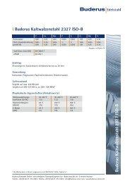 l Buderus Kaltwalzenstahl 2327 ISO-B - Buderus Edelstahl Gmbh