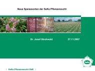 Neue Speisesorten der SaKa Pflanzenzucht Dr. Josef Strahwald ...