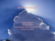 2010-2012 Drought - Houston-Galveston Area Council