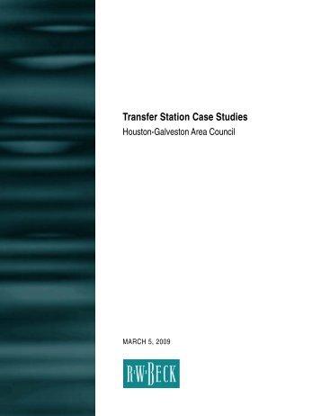 Transfer Station Case Studies - Houston-Galveston Area Council