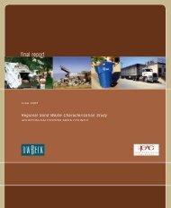 Regional Solid Waste Characterization Study - Houston-Galveston ...