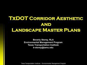 TxDOT Corridor - Aesthetic and Landscape Master Plan - Houston ...