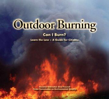 Outdoor Burning - Houston-Galveston Area Council