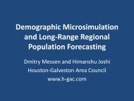 Demographic Microsimulation and Long-Range Regional ...