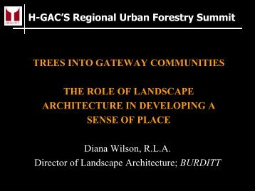 Trees into Gateway Communities