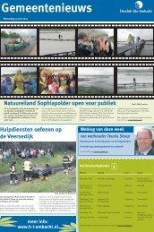 Gemeentenieuws Hendrik-Ido-Ambacht woensdag 13 juni 2012