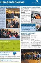 Gemeentenieuws woensdag 16 januari 2013 - Hendrik-Ido-Ambacht