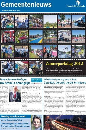 Gemeentenieuws woensdag 12 september 2012 - Hendrik-Ido ...