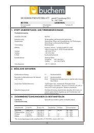 SDBL Butol AEROSOL 2009 - Buchem Chemie + Technik Gmbh ...