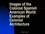 Examples of Colonial Architecture - H-Net