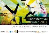 Bundesfestival Video 2011 - deutsch - Jena