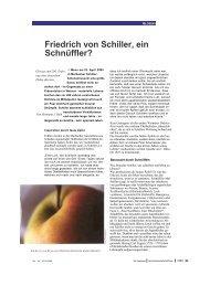 Friedrich von Schiller, ein Schnüffler? - H-roth-kunst.com