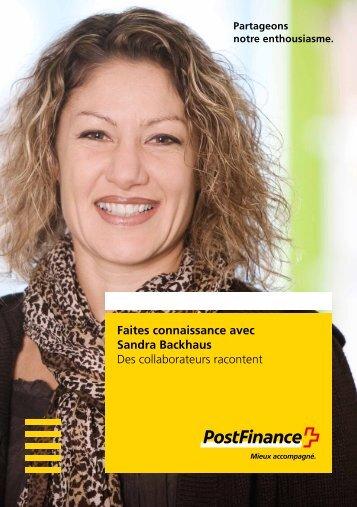Sandra Backhaus raconte - Postfinance