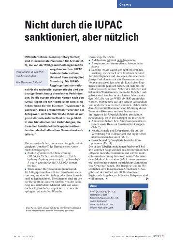 Nicht durch die IUPAC sanktioniert, aber nützlich - H-roth-kunst.com