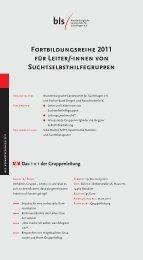 Fortbildungsreihe 2011 für Leiter/-innen von ... - Über die BLS