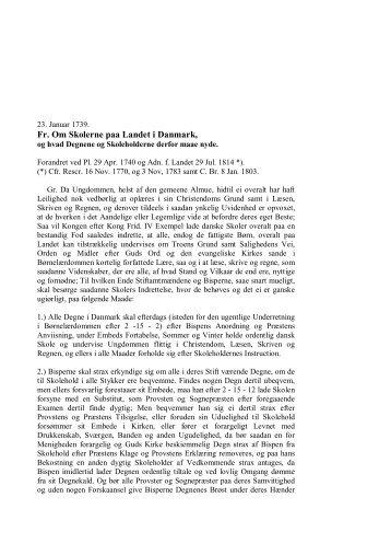 Skoleforordning 1739. - H 58 - Albertslund