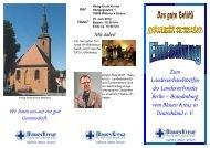 Zum Landesverbandstreffen des Landesverbandes ... - Blaues Kreuz