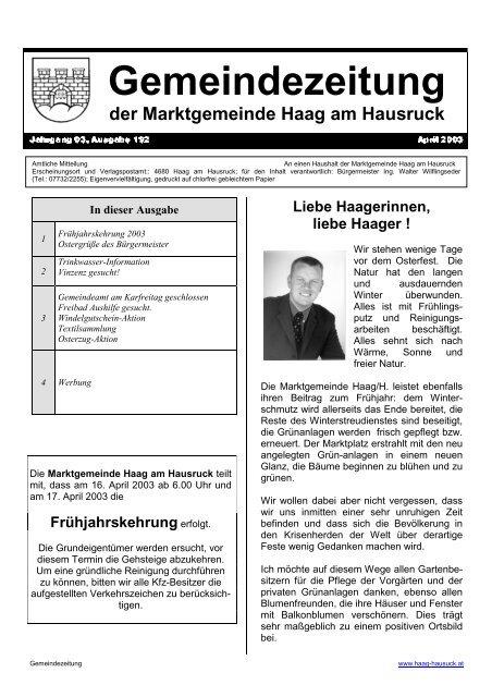 Haag am hausruck single mnner bezirk Illmitz singletreffen
