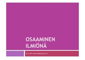 KL Nanna Wilhelmsson, Helsingin Diakoniaopisto - HAAGA-HELIA ...