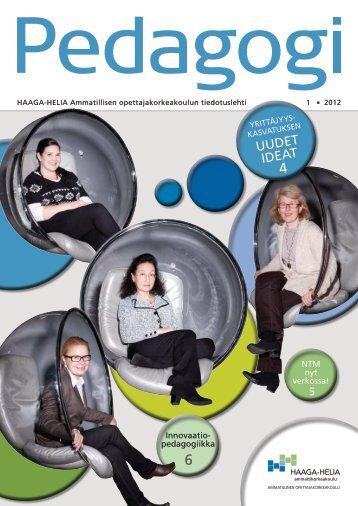 Pedagogi 1/2012 - HAAGA-HELIA ammattikorkeakoulu