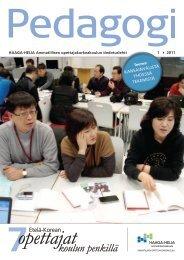 Pedagogi 1/2011 - HAAGA-HELIA ammattikorkeakoulu