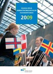 HAAGA-HELIAn vuosikertomus 2009 (.pdf)