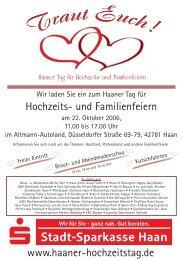Flyer 2006 - Haaner Tag für Hochzeits